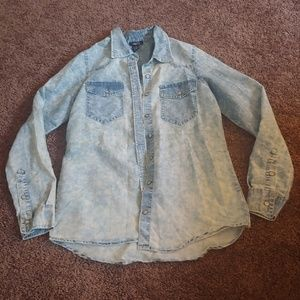 Rue 21 vintage looking bleach button down shirt